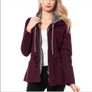Wine utility hooded jacket